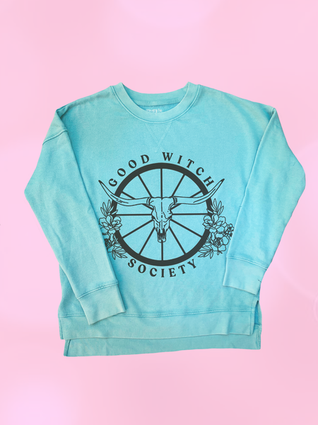 Womens Good Witch Society Raglan Sweatshirt - Clarafornia