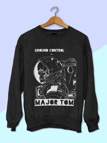 Womens David Bowie Major Tom Sweatshirt | David Bowie Sweatshirt - Clarafornia
