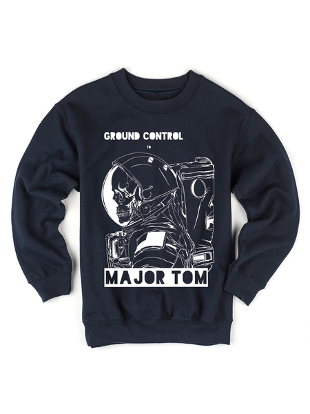Kids David Bowie Major Tom Sweatshirt | David Bowie Lyrics Sweatshirt - Clarafornia