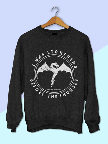 Womens Imagine Dragons Sweatshirt | Imagine Dragons Thunder Sweatshirt - Clarafornia