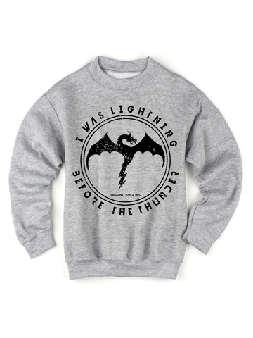Kids Imagine Dragons Thunder Sweatshirt | Imagine Dragons Thunder Sweatshirt - Clarafornia