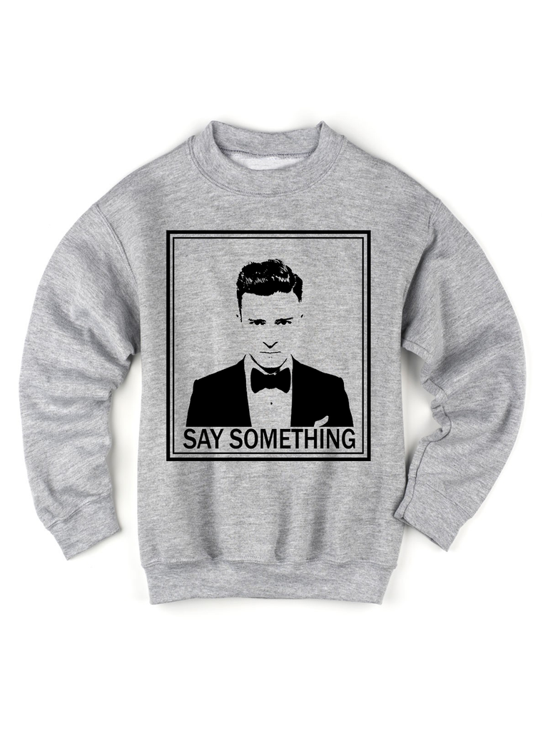Kids Graphic Sweatshirt - Kids Sweatshirt - Kids Band Shirt - Kids Concert Tees - Kids Band Shirt - Kids Band Tee - Kids Justin Timberlake Shirt - Kids Concert TShirt - Justin Timberlake Say Something Shirt - Justin Timberlake Youth Shirt - Justin Timberlake Shirt for Girls - Justin Timberlake Shirt for Boys - Justin Timberlake Concert Tee