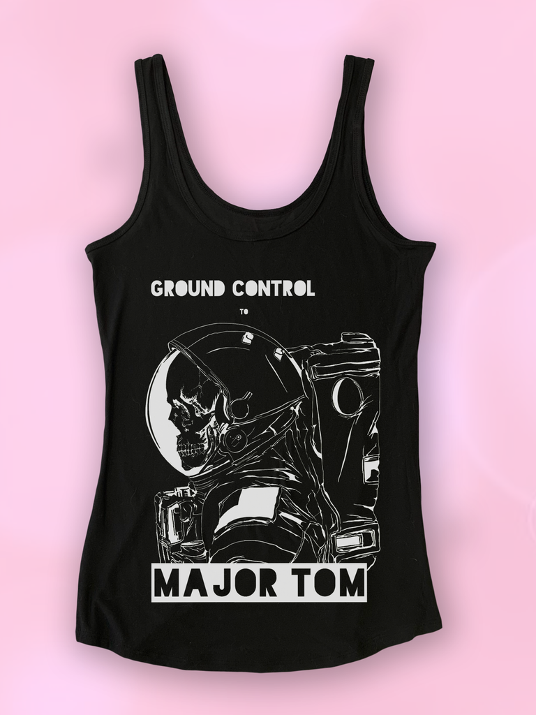 "David Bowie ""Ground Control to Major Tom"" Astronaut Tank Top - Clarafornia"