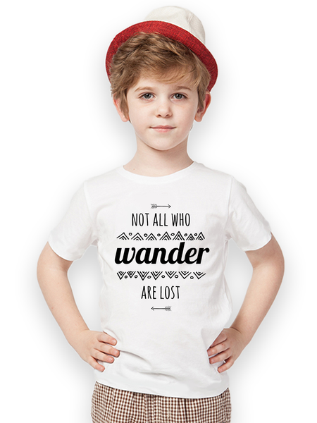 Kids Not All Who Wander T Shirt - Clarafornia