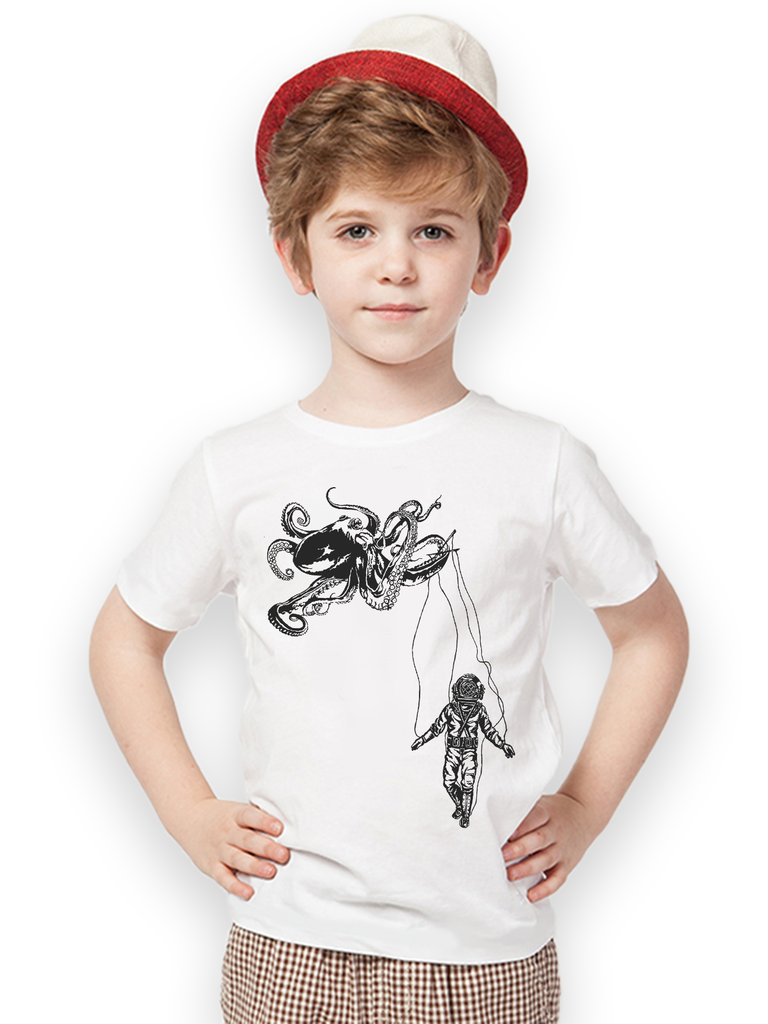 Kids Octopus + Deep Sea Diver T Shirt - Clarafornia
