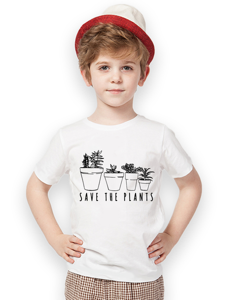 Kids Save the Plants Succulents T Shirt - Clarafornia