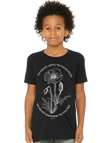 Kids Tom Petty Wildflowers T Shirt | Tom Petty Lyrics Shirt