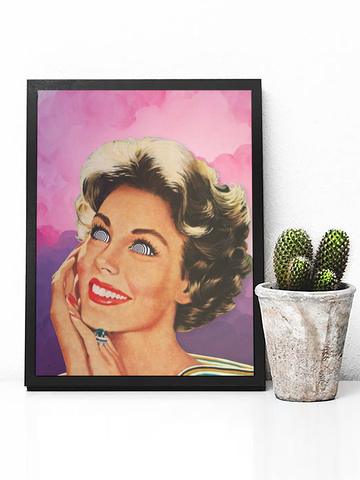 Mad Housewife Poster Print | Trippy Retro Wall Art - Clarafornia