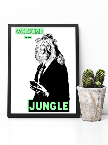 Welcome to the Jungle Poster Print | Guns N' Roses Wall Art - Clarafornia