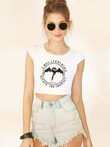 Womens Imagine Dragons Thunder Crop Top - Clarafornia