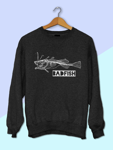 Womens Graphic Tee Shirts - Womens Streetwear - Womens Street Style - Womens Graphic Tee Shirt - Boho Clothing - Womens Boho Clothing - Nautical Clothing Ladies - Womens Grunge Sweatshirt - Tumblr Sweatshirt - Badfish Sweatshirt - Sublime Band Shirt - Sublime Band Sweatshirt - Concert Sweatshirt - 90s Sweatshirt - Fish Skeleton Sweatshirt