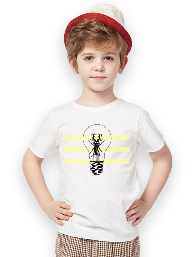 Kids Beetle Lightbulb T Shirt | Funny Insect Shirt - Clarafornia