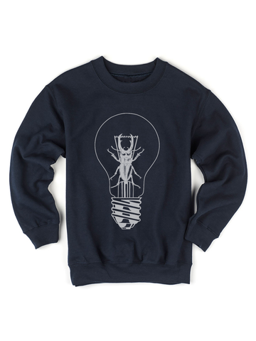 Kids Beetle Lightbulb Sweatshirt | Kids Insect Sweatshirt - Clarafornia