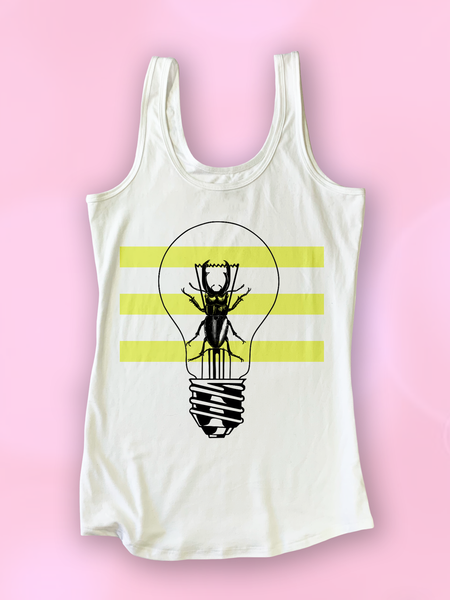 Trippy Insect Beetle Light Colorblock Tank Top - Clarafornia