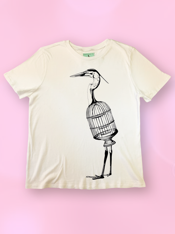 Alice in Wonderland Trippy Bird Tee Shirt - Clarafornia