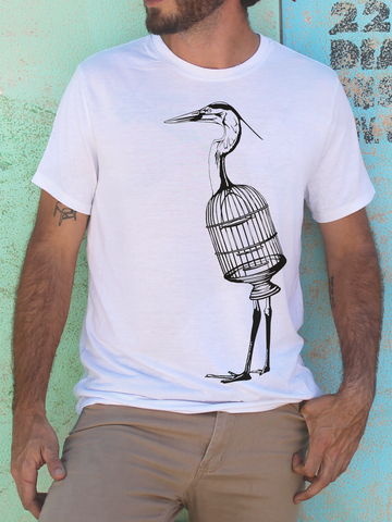 Mens Bird Cage Shirt | Mens Wildlife Shirt