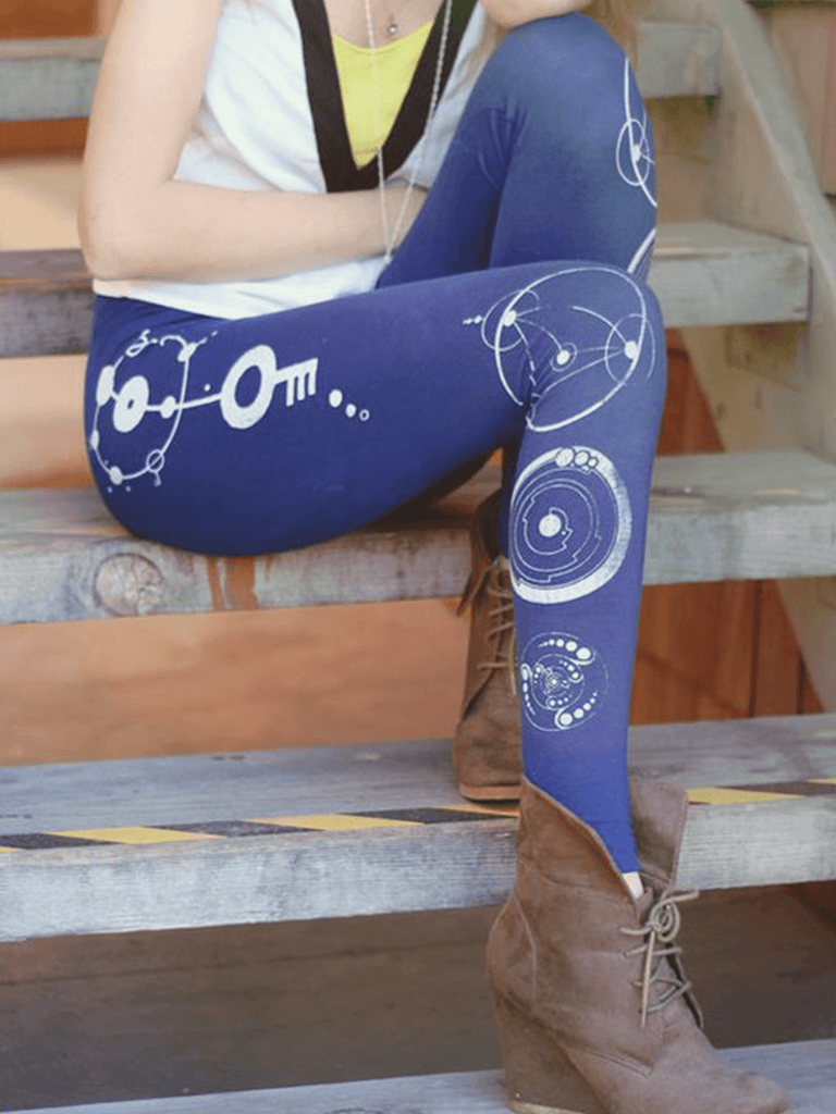 Womens Crop Circle Leggings | Boho Printed Leggings - Clarafornia