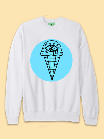 Trippy Eyes Cream for Ice Cream Sweatshirt - Clarafornia