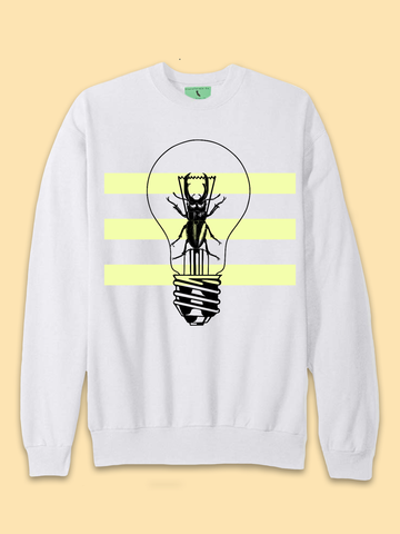Mens Beetle Light Sweatshirt - Clarafornia