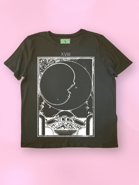 Retro Moon Tarot Card T-Shirt - Clarafornia