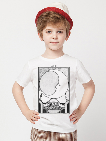 Kids Moon Tarot Card T Shirt | Retro Tarot Card Shirt - Clarafornia