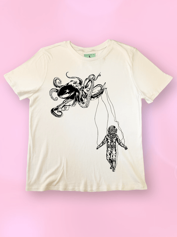 Octopus + Deep Sea Diver T Shirt - Clarafornia