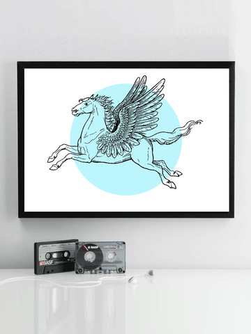 Horse Poster - Colorblock Wall Art - Colorblock Art - Horse Anatomy Chart - Retro Horse Poster - Farmhouse Decor - Barn Decor - Living Room Decor - Bedroom Wall Art - Pegasus Art - Vintage Horse Poster - 70s Poster - Tumblr Art - Boho Decor - 90s Pastel Decor - Neon Wall Art - Tumblr Decor - Tumblr Aesthetic - Vintage Aesthetic - Retro Wall Art - Retro Decor - Pegasus Poster