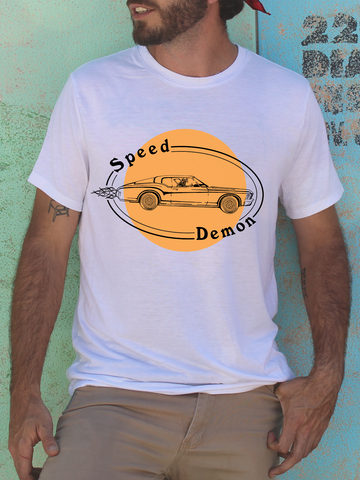 Mens Graphic T Shirt - Graphic Tee Shirts for Men - Graphic T Shirts - Mens Retro Car T Shirt - Mens Retro 70s T Shirt - 70s Shirts for Men - Funny Muscle Car Shirt Men - Funny Car Shirt - Grim Reaper Shirt - Funny Tumblr Shirt for Men - Vintage Car T Shirt - Colorblock Shirt for Men - Mens Orange Retro Shirt