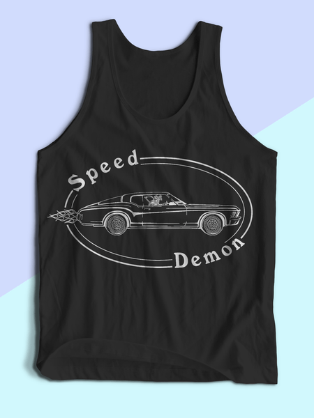 Mens Speed Demon Tank Top | Mens Muscle Car Shirt - Clarafornia