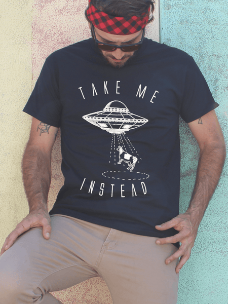 Mens UFO Alien T Shirt | Mens Outer Space Shirt - Clarafornia