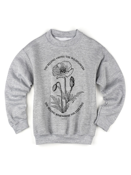 Kids Tom Petty Wildflower Sweatshirt | Tom Petty Lyrics Sweatshirt - Clarafornia