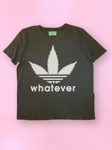 Womens Graphic T Shirts - Womens Streetwear - Womens Street Style - Womens Graphic Tee Shirts - Logo Parody T Shirt - Pastel Grunge T Shirt - Womens Festival Clothing - Womens Festival Tops - Adidas Parody T Shirt - Marijuana Shirt - Marijuana T Shirt - Funny Stoner T Shirt - Stoner Gifts for Her - Weed Leaf T Shirt for Women -Pastel Goth T Shirt - Tumblr Clothing - Tumblr T Shirt