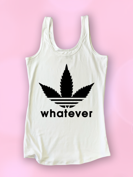 Adweedas Whatever Weed Leaf Tank Top - Clarafornia