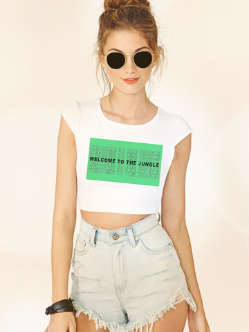 Womens Graphic T Shirts - Womens Streetwear - Womens Street Style - Womens Graphic Tee Shirts - Boho Clothing - Womens Street Style - Womens Streetwear - Welcome to the Jungle Crop Top - Guns n Roses Tee for Women - Guns N Roses Crop Top - Pastel Grunge Fashion - Soft Grunge Crop Top - Tumblr Clothing - Tumblr Fashion - Tumblr Crop Top - Grunge Crop Top Tee for Women