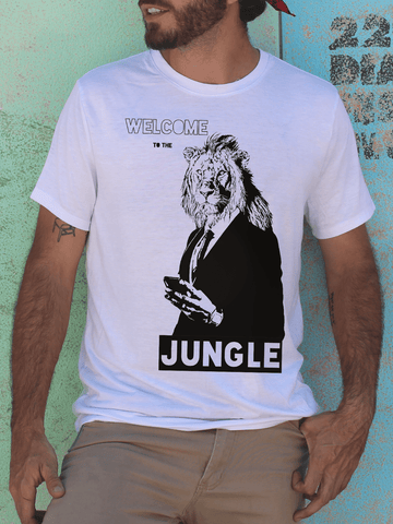 Mens Welcome to the Jungle T Shirt | Mens Guns n Roses Shirt