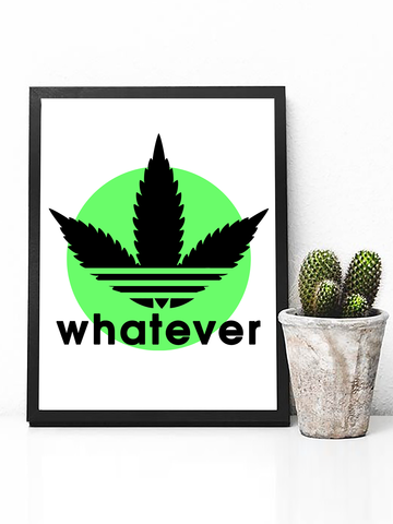 Poster Print - Trippy Art - Neon Wall Art - Psychedelic Wall Art - Marijuana Poster - Psychedelic Poster - Trippy Art - Trippy Wall Art - Trippy Poster Print - Music Festival Poster - Dorm Decor - Pastel Goth Decor - funny weed poster - Bedroom Poster Decor - Drugs Poster - Pastel Tumblr Poster - Tumblr Art - Stoner Gifts - Stoner Poster - Marijuana Decor - Weed Leaf Poster - Adidas Parody Poster