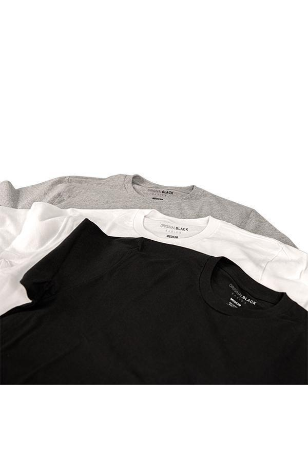 Crew Neck T-shirt 3 Pack - The Essentials-CottonLinks+CA