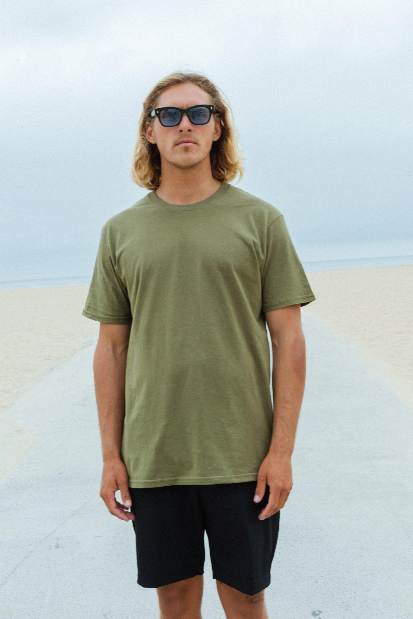 Crew Neck T-shirt | Solids | CL-1001-CottonLinks+CA
