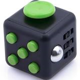cute black and green fidget cube