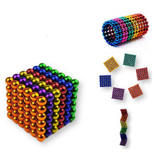 Magnetic Balls by PIXELS - 216 5mm Rainbow Magnets - Original Fidget Toys for Adults - Mini Rare Earth Magnets