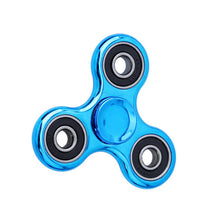 Blue Chrome Fidget Spinners
