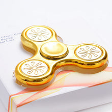 Gold Flower Metallic Fidget Spinner