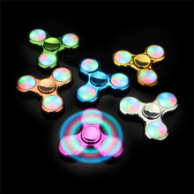 Blue Chrome Finish LED Fidget Spinners