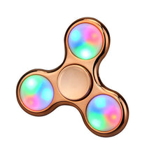 Gold Chrome Finish LED Fidget Spinners