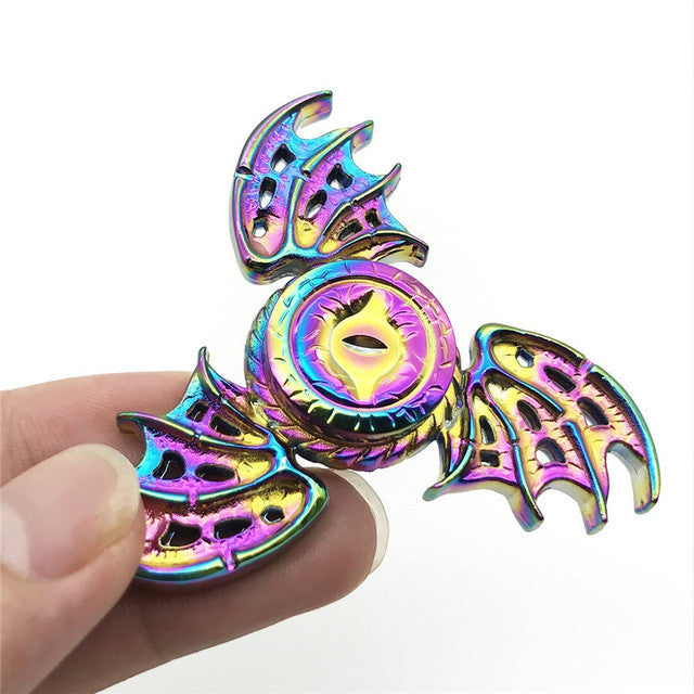 Rainbow Dragon Wings Fidget Spinner EDC Hand Focus Toy ADHD Autism Finger Gyro