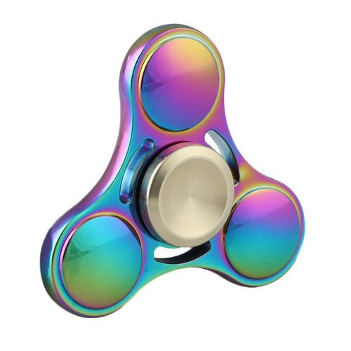 Colorful Metal Fidget Hand Spinner Tri-Spinner