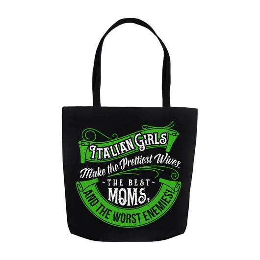 Italian Girls Tote Bag - Black
