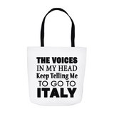 The Voices Tote Bag - White