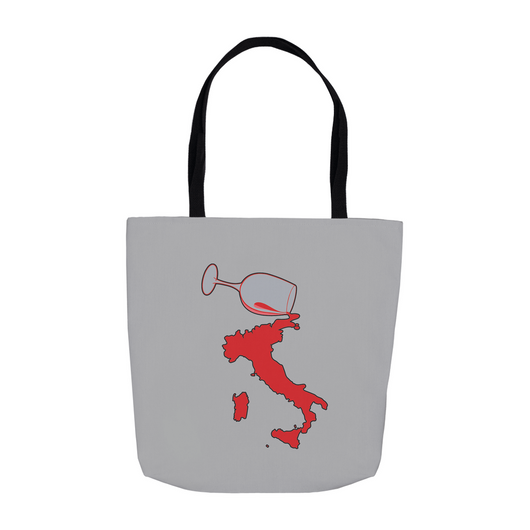 Spilled Wine II Tote Bag - Gray