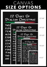 12 Days of Italian Christmas Portrait Canvas Wall Art